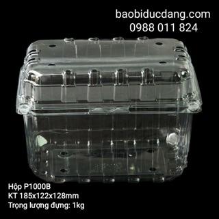 50 hộp nhựa đựng 1kg hoa quả P1000B ( có lỗ thoát khí và nút gài)