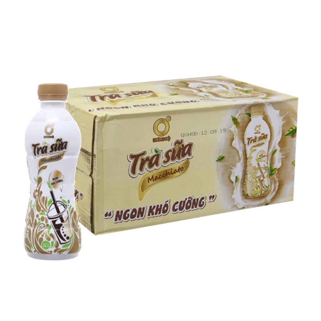 Thùng 24 chai trà sữa Macchiato Không Độ