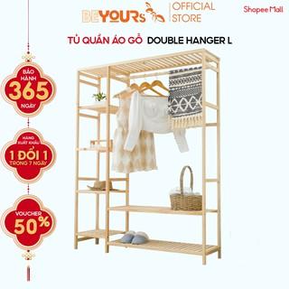 Tủ Treo Quần Áo Gỗ BEYOURS Double Hanger Size Khổng Lồ Nội Thất Kiểu Hàn Lắp Ráp thumbnail