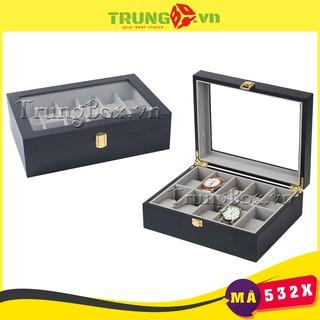 Hộp Đựng Đồng Hồ 10 Ngăn Vỏ Gỗ Sơn Mài - Mã 532X thumbnail