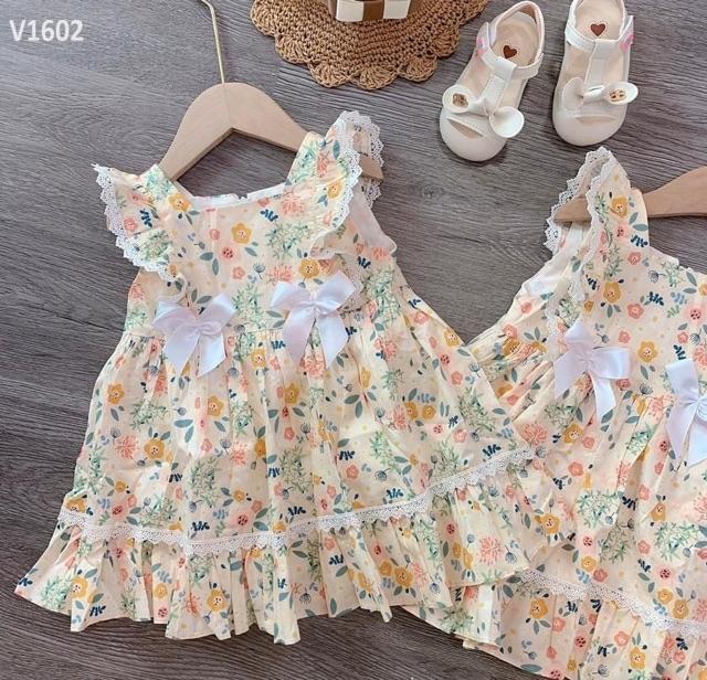 Váy hoa nhí cánh tiên bèo cho bé từ 7-15kg mã 46055