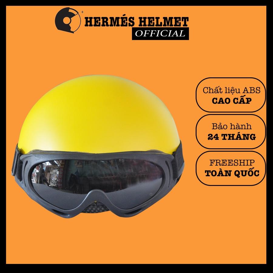 Mũ bảo hiểm  TẶNG KÍNH VÀ BAO ĐẬP  Nón bảo hiểm nửa đầu 1/2 - Mũ bảo hiểm có kính