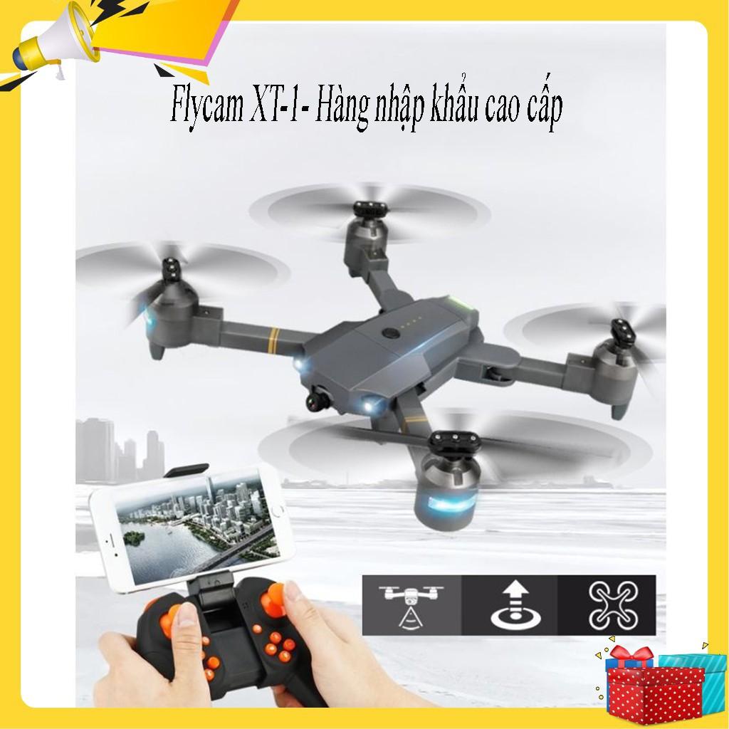 Flycam quay video Full HD 720P, Máy bay điều khiển kết nối wifi 3G - 4G,  Máy bay điều khiển từ xa XT-1, Động cơ mạnh mẽ