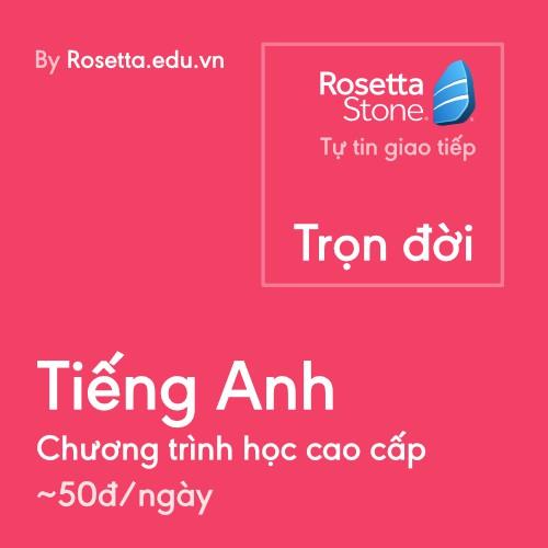 [Voucher - Khóa Học Online] Chương trình học Tiếng Anh cao cấp của Rosetta Stone - thời gian: Trọn đời