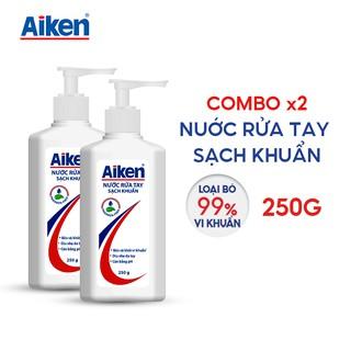 Aiken Combo 2 Nước rửa tay Sạch khuẩn 250g chai thumbnail