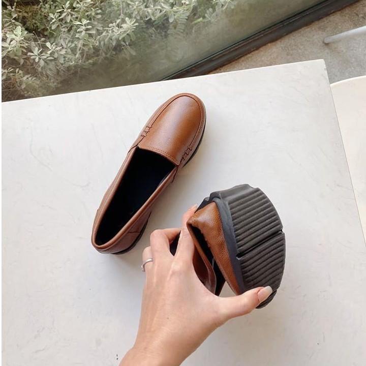 Giày Slipon đế bằng nữ bAimée & bAmor da bò cao cấp 1434