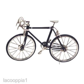 1:10 Scale Black Alloy Bicycle DIY Dollhouse Miniatures for Decoration ACCS