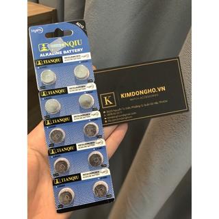 Pin LR44, A76, AG13 - Pin cúc áo TIANQIU G13 vỉ 10 viên thumbnail