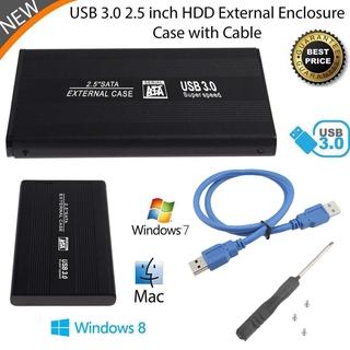 External Portable USB 3.0 Hard Disk Drive Enclosure 2.5 Inch SATA HDD Box