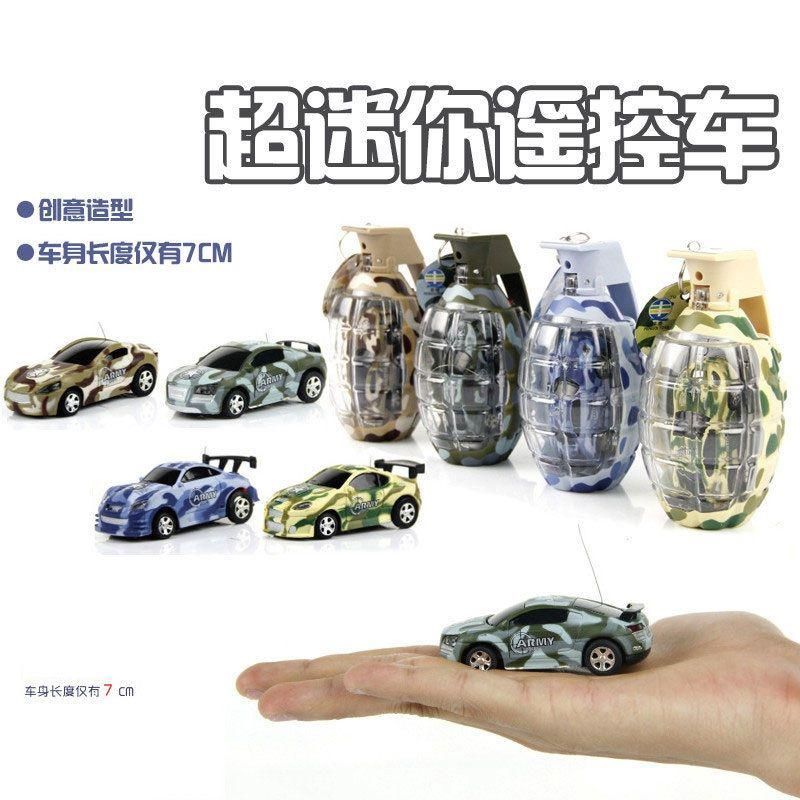 Mini canister grenade remote control car charging ultra-small sports racing Boy kids toy