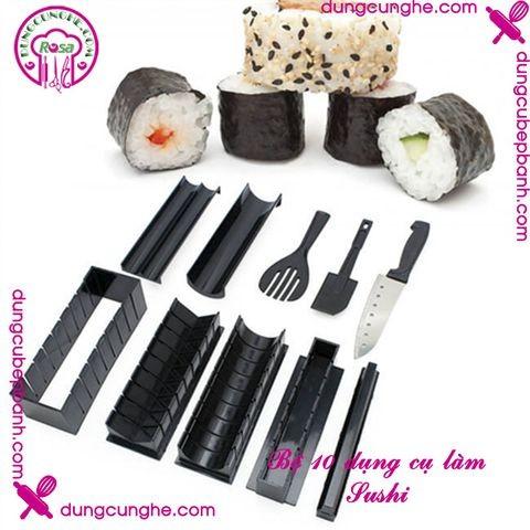 Bộ 10 dụng cụ làm Sushi (Tim, Tròn) - VCH-385
