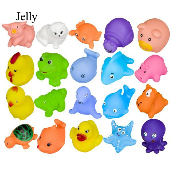 20pcs Soft Vinyl Press Bath Toys Animal Floating Toy for Kids Toddlers J279