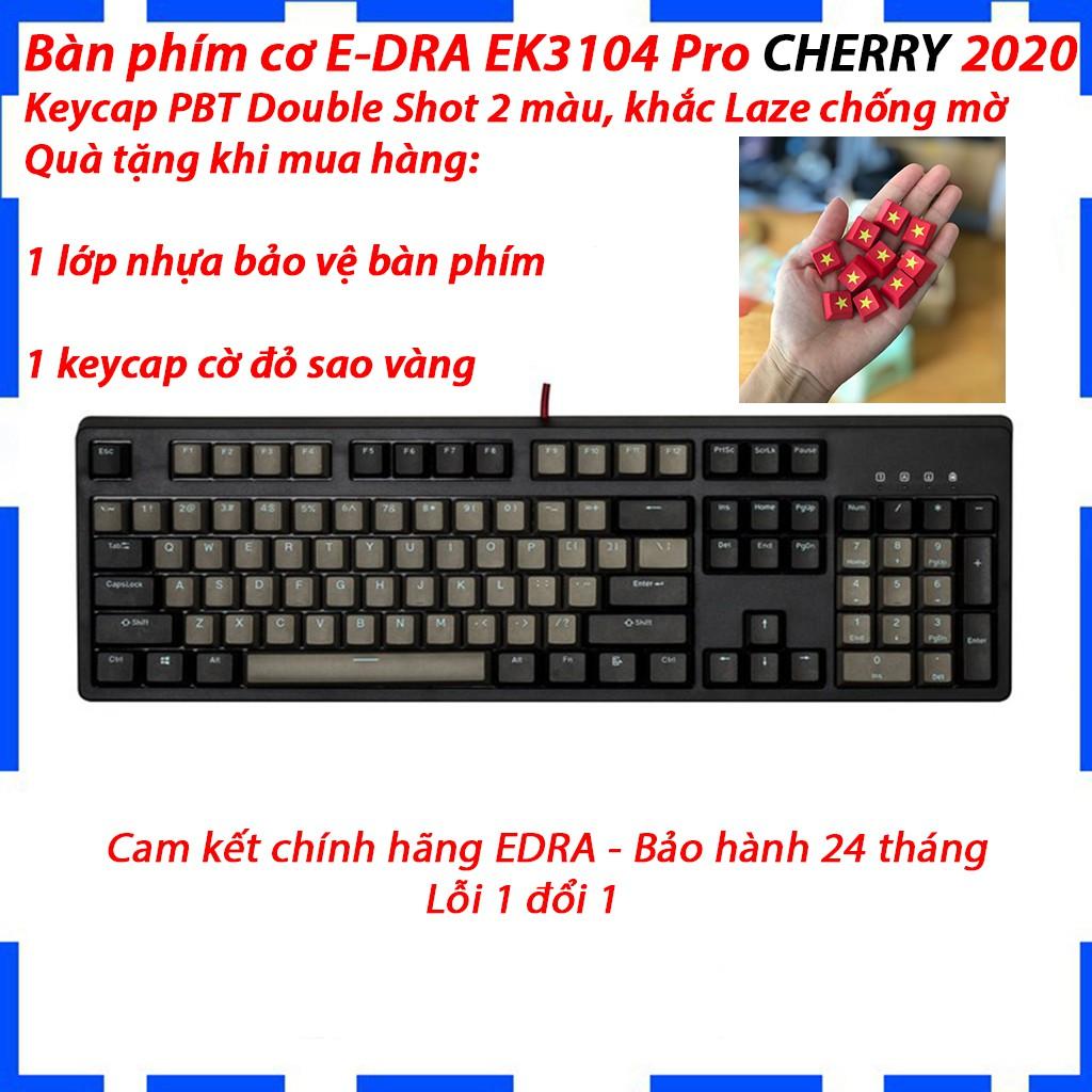 [Mã 267ELSALE hoàn 7% đơn 300K] Bàn phím cơ E-DRA EK3104 PRO CHERRY Switch - Bảo hành 2 năm