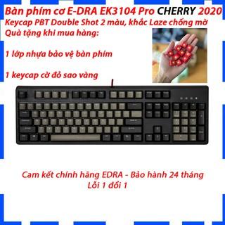 Bàn phím cơ E-DRA EK3104 PRO CHERRY Switch - Tặng 1 keycap cờ đỏ sao vàng cho nút ESC siêu đẹp - Bảo hành 2 năm thumbnail