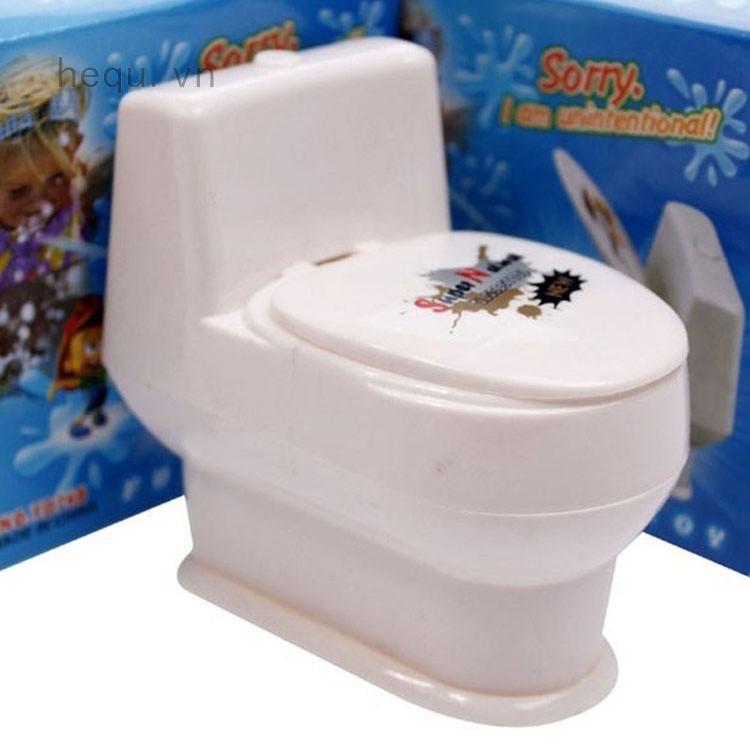 Đồ chơi hù dọa gây sốc ngày cá tháng tư hình toilet