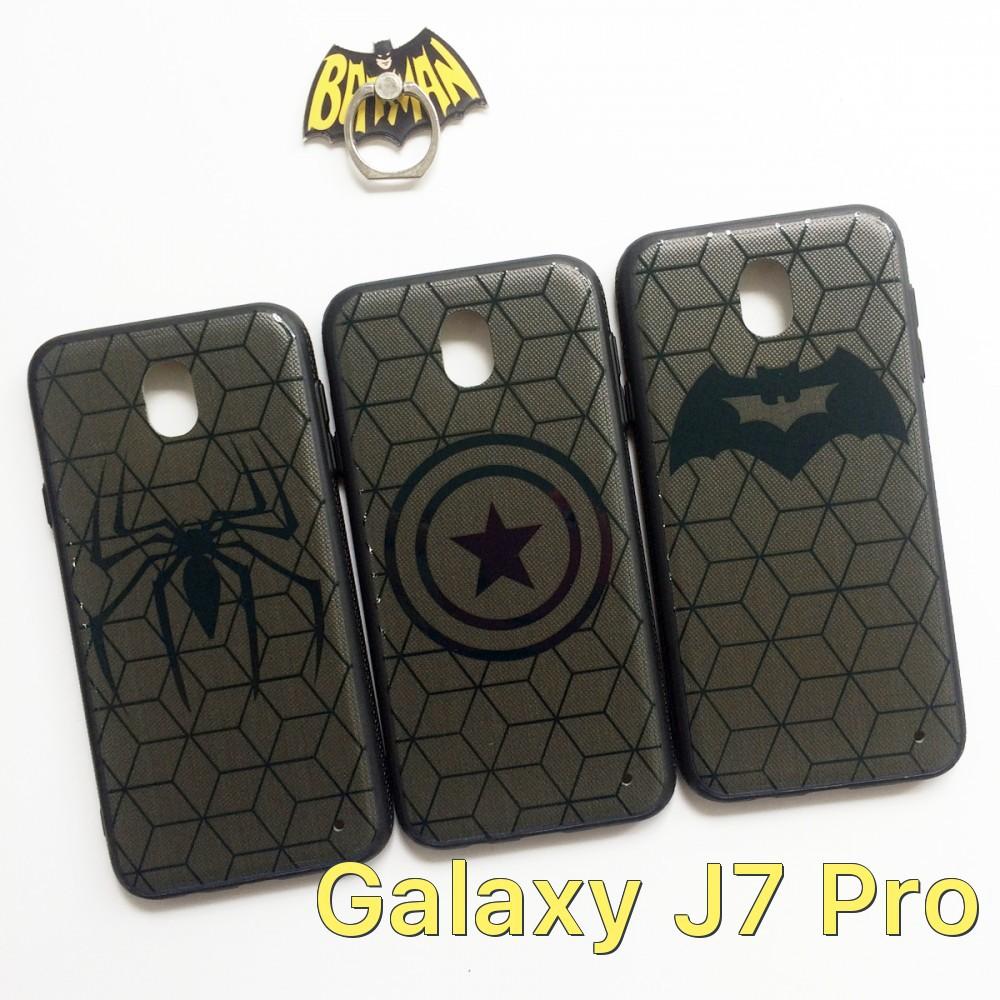 Ốp lưng 4D bộ sưu tập Avengers viền dẻo cho Samsung Galaxy J7 Pro