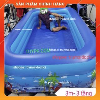 GIÁ SỐC Bể Bơi Phao SIÊU TO- 2m6-3 tầng, 3m-3 tầng TẶNG BỘ VÁ PHAO