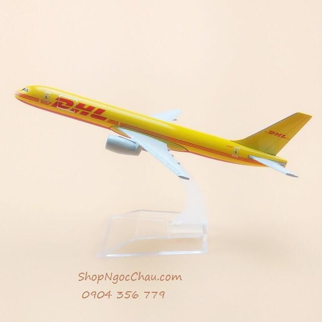 Mô hình máy bay B757 DHL 16cm
