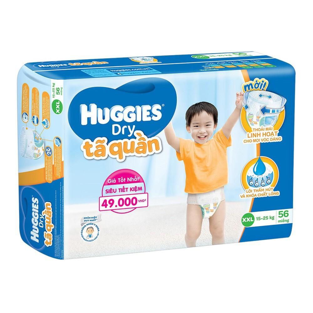 BỘ 3 TÃ QUẦN HUGGIES DRY PANTS XXL56