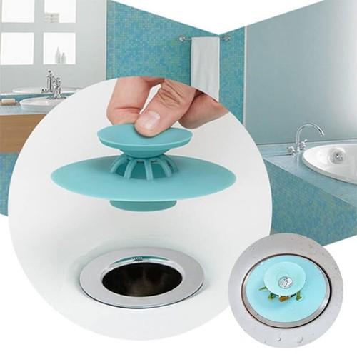 Nắp silicon đậy cống thoát nước bồn rửa chén / phòng tắm tiện dụng