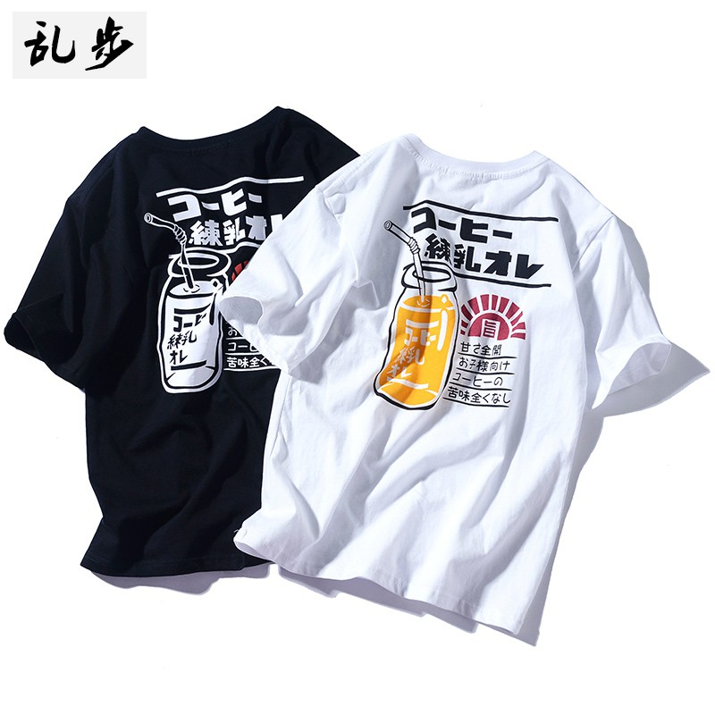 Men's cotton short-sleeved round neck T-shirt suitable for s