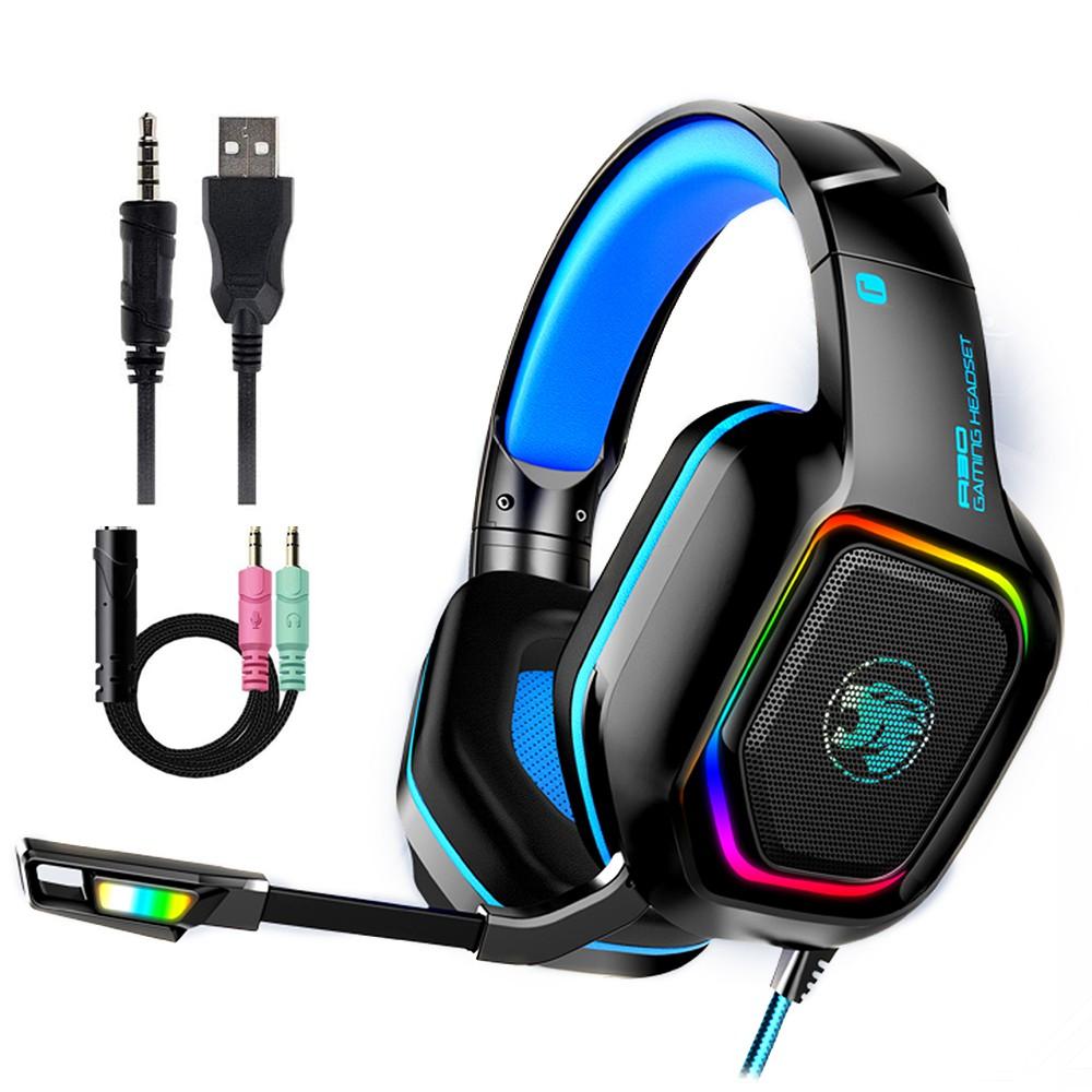 Tai Nghe Chơi Game Có Dây 3.5Mm Với Mic Qua Tai Tai Nghe Trò Chơi Và Khử Tiếng Ồn Micrô Âm Thanh Nổi Điều Khiển Âm Lượng Cho PC Máy Tính Xách Tay Điện Thoại Thông Minh Điện Thoại Di Động Trò Chơi Trường Học Trực Tuyến Có Đèn Nền RGB Gaming headphone