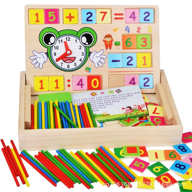 Bộ đồ chơi toán học có số kèm que tính học đếm – Đồ chơi thông minh cho bé