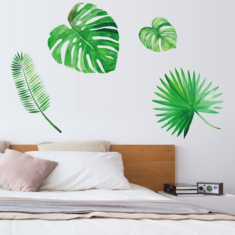 Nordic Green Plant Back Wall Sticker