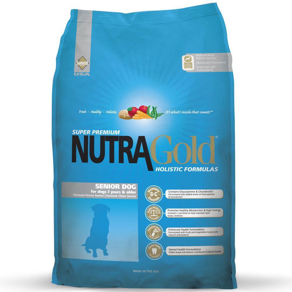 15kg - Nutra Gold Holistic อาหารเม็ดสำหรับสุนัขแก่ สูงวัย 7+ บำรุงข้อและต่อต้านอนุมูลอิสระ