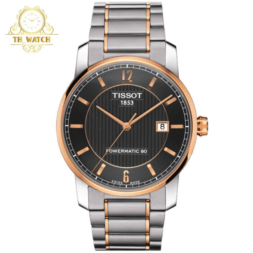 Đồng hồ Tissot 1853 Nam automatic, dây titanium, kính shapphire T087.407.55.067.00