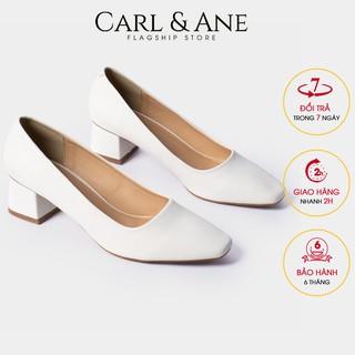 Carl & Ane - [Form lơ n lu i 1 size] Gia y cao go t thời trang nư bi t mu i đơn gia n cao 5cm màu tră ng _ CP004 thumbnail