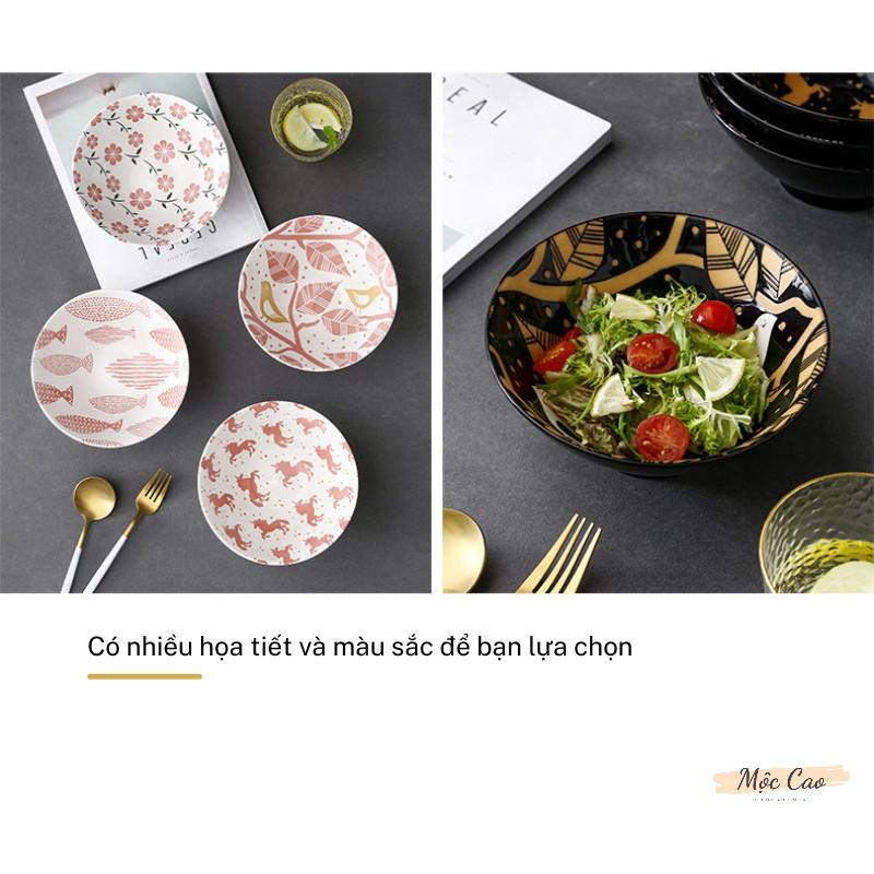 Tô ăn mì, bát tô sứ cao cấp 7 inch tráng men 2 lớp dùng trong nhà hàng - bát decor phụ kiện bàn ăn sang trọng