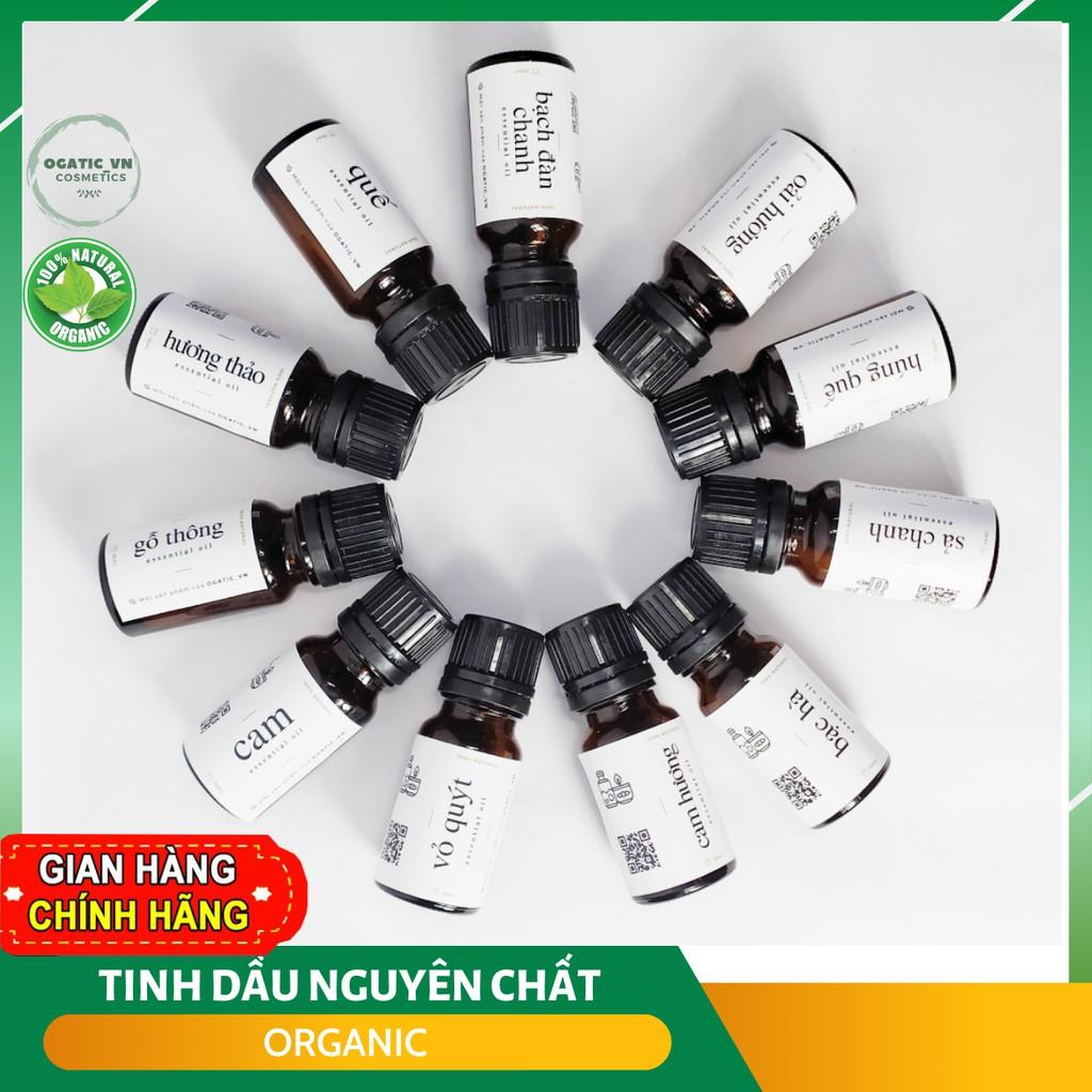 Tinh dầu thiên nhiên nguyên chất Ogatic_vn - nhiều mùi 10ml - TD001