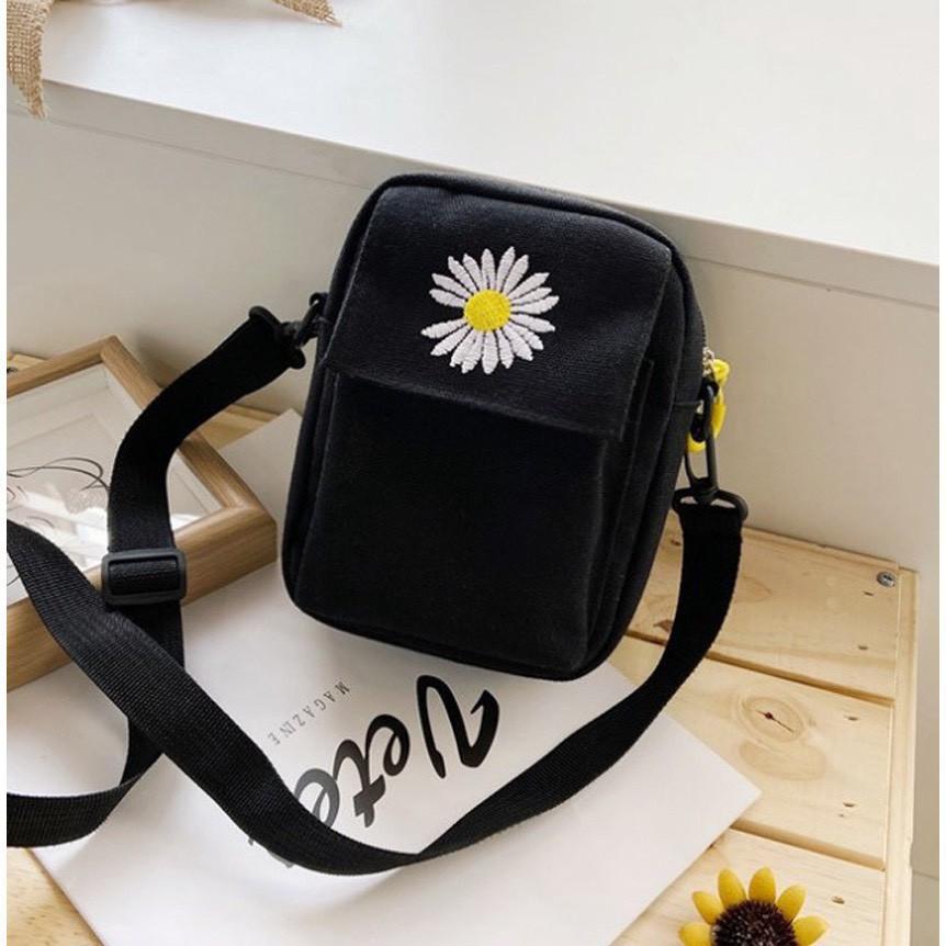 Túi tote, túi vải đựng điện thoại hoa cúc siêu hot TX38