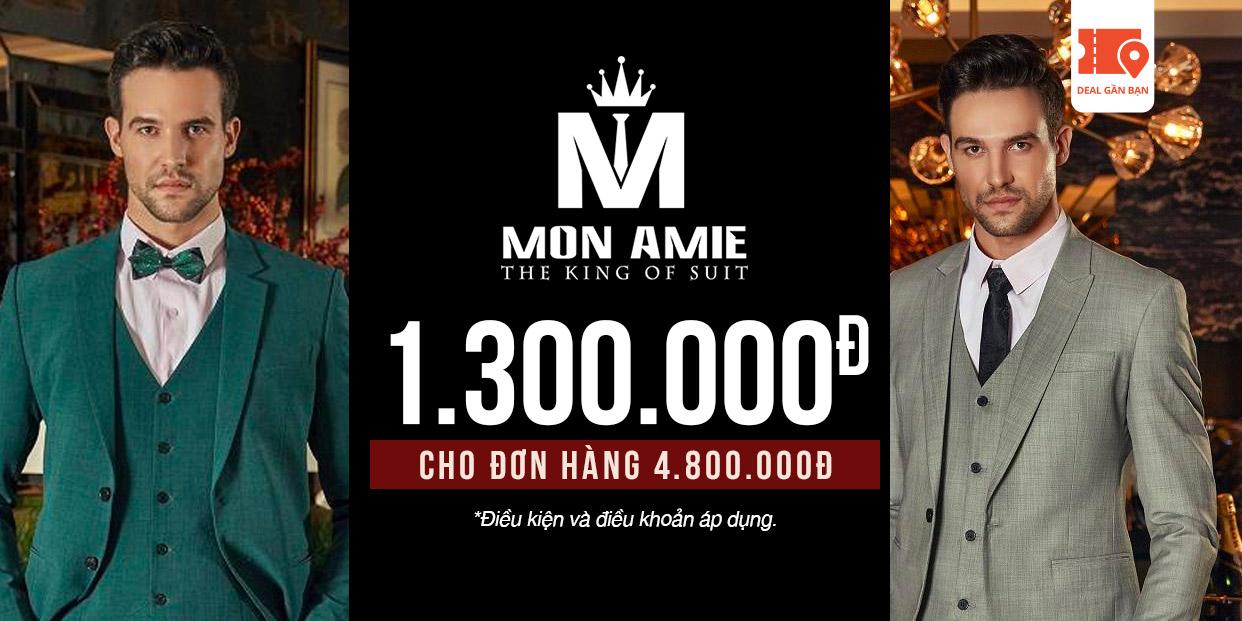 E-Voucher Mon Amie 1.300.000đ cho đơn hàng 4.800.000đ