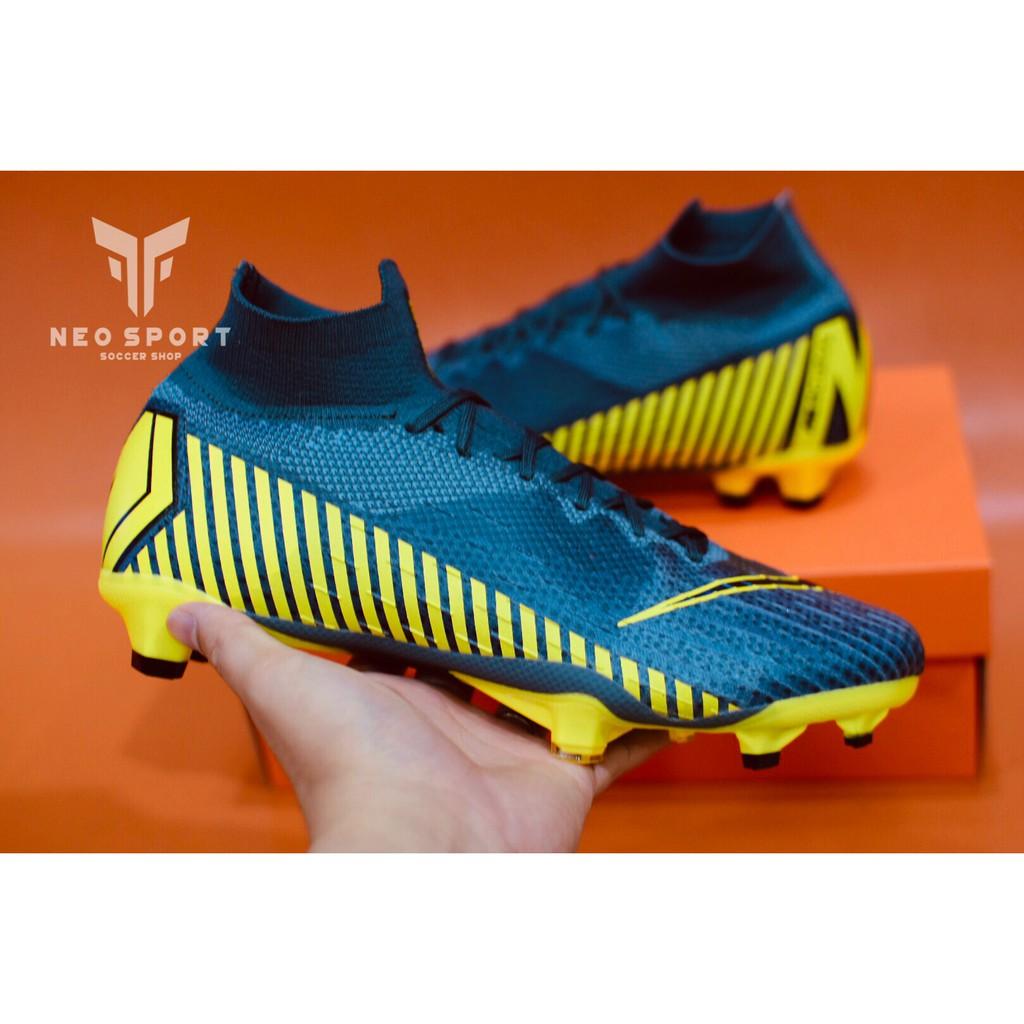 Giày đá bóng CR7 Mercurial cổ cao đế FG xám (fullbox, tặng ngay vớ ngắn)