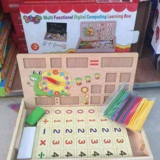 Bộ bảng học gồm số và que tính cho bé