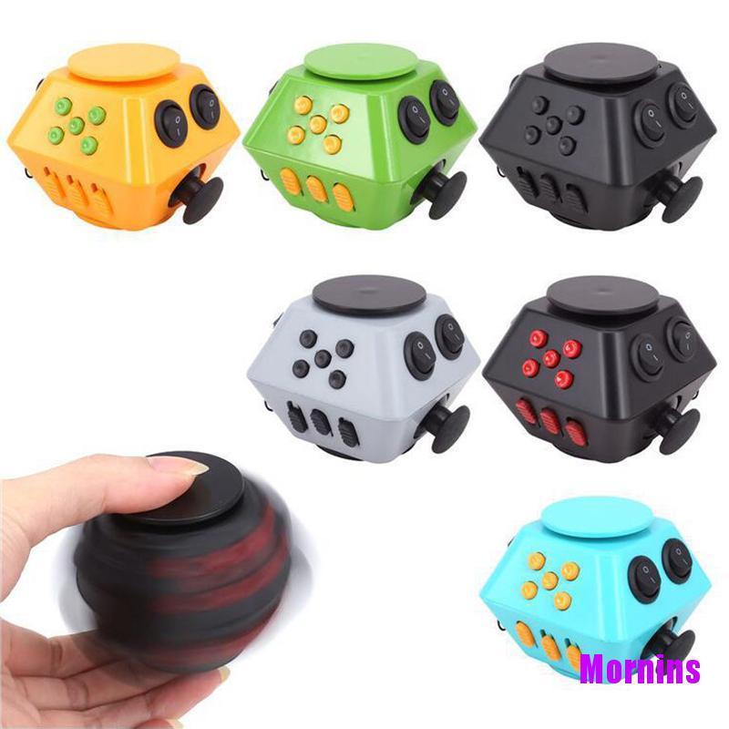 Mornin☪Spinner Cube Antistress Magic Stress Cube Relieve Anxiety Boredom Finger Cube