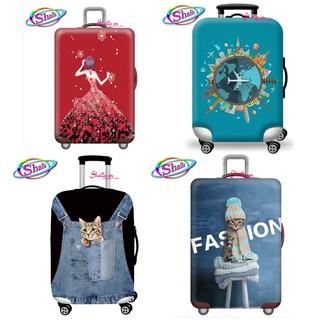 Áo trùm vali - Áo vỏ bọc vali - 20 inch -24 inch co giản 3d in hình Shalla thumbnail