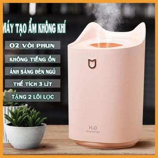 [ GIÁ GỐC ] Máy tạo độ ẩm không khí HUMIDIFIER, 3 lít, cổng cắm USB, AKIO Mart dung tích chưa 3 lít nước - Bh 6 tháng