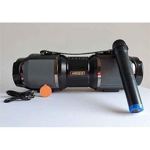 [tặng kèm 1 micro không dây] Loa Bluetooth karaoke xách tay di động KIMISO T1S - Loa hát karaoke đa năng bảo hành 12 th