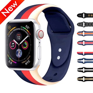 Dây đeo silicon mềm cho đồng hồ thông minh Apple Watch series4 / 3 / 2 / 1 ( 38 / 40 / 42 / 44mm ) for iwatch4 3 2 1