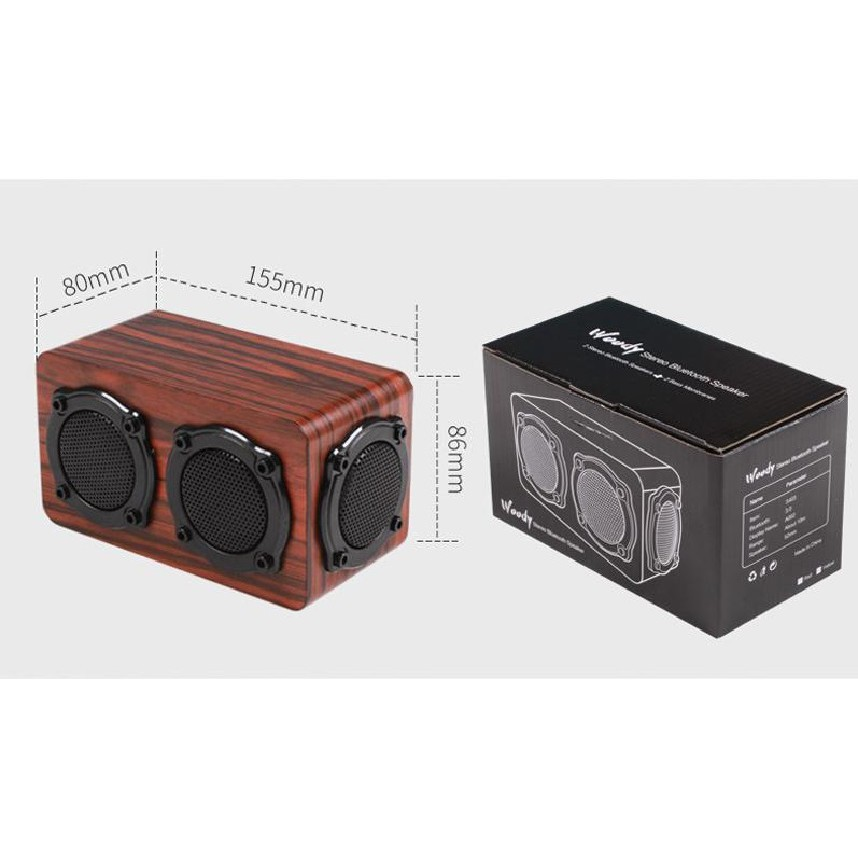 [SALE GIÁ SỐC]  Loa Gỗ Bluetooth Super Bass HIFI Stereo Speaker S403