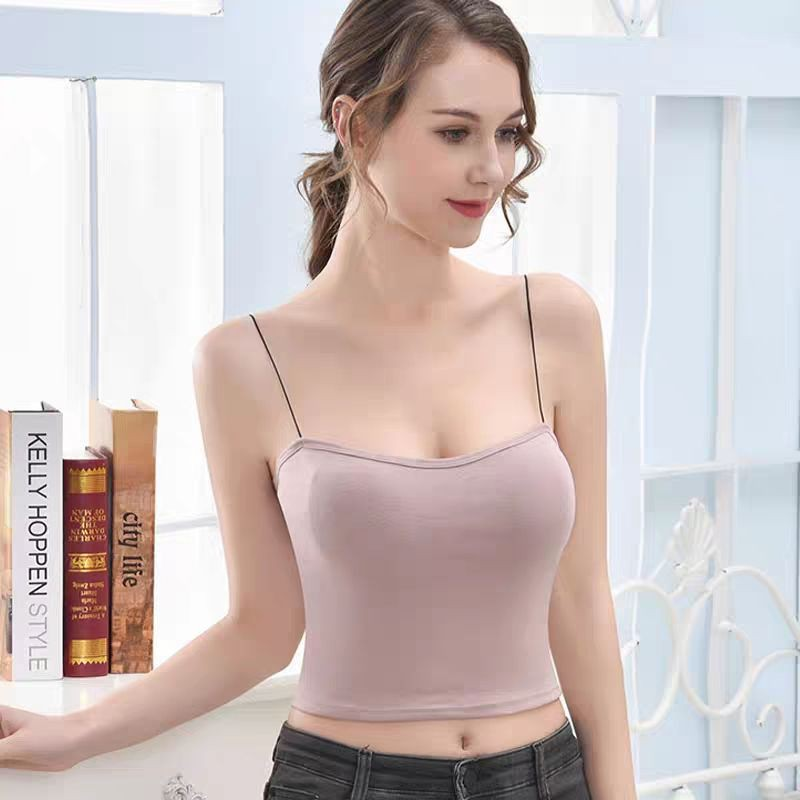 Áo 2 Dây Sợi Bún Có Đệm Ngực Kiểu Dáng Thon Gọn Thời Trang ABU5