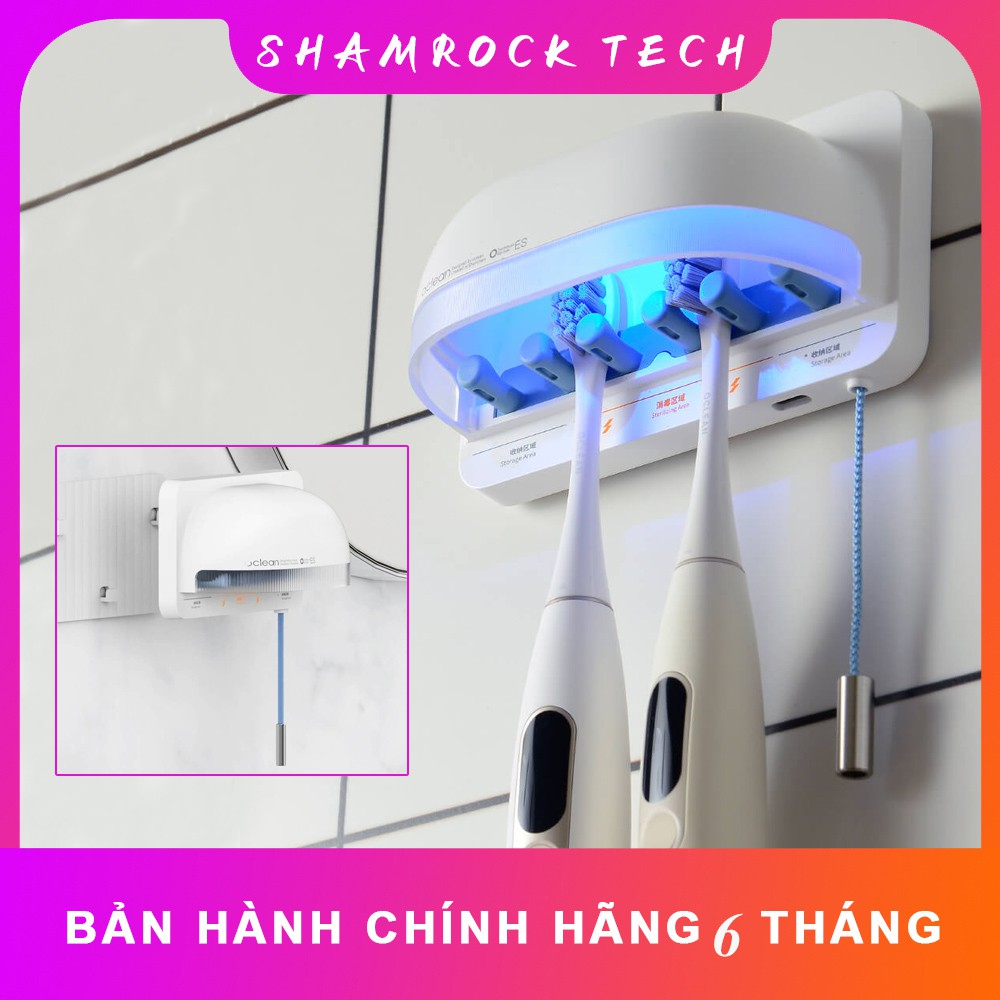 Oclean S1 Chống Vi Khuẩn Bàn Chải Đánh Răng UVC LED Máy Tiệt Trùng 2 Trong  1 bản quốc tế - Bàn chải đánh răng Hãng Xiaomi