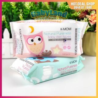Khăn giấy ướt không mùi Hàn Quốc K-mom (100c) – khăn ướt em bé hữu cơ Kmom