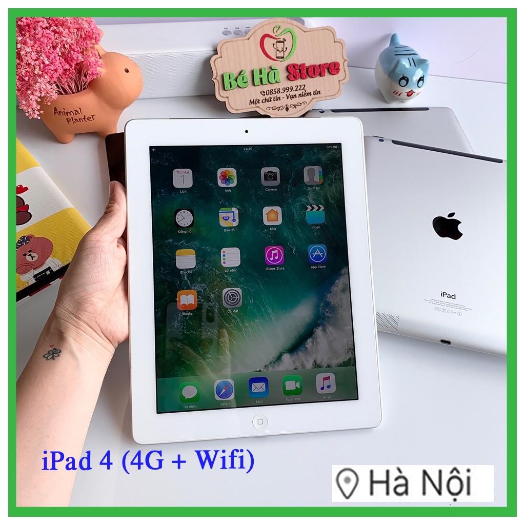 Máy Tính Bảng iPad 4 - 16/ 32/ 64Gb (Wifi + 4G) Chính Hãng -Full Phụ Kiện -Zin Đẹp 99%