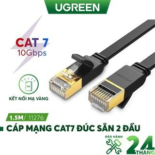 Cáp mạng 2 đầu đúc Cat7 UTP Patch Cords dạng dẹt, dài từ 0.5-10m UGREEN NW106 thumbnail