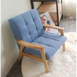 Ghế sofa tay gỗ trẻ em BNS8010-1P Ghế đơn Xanh dương
