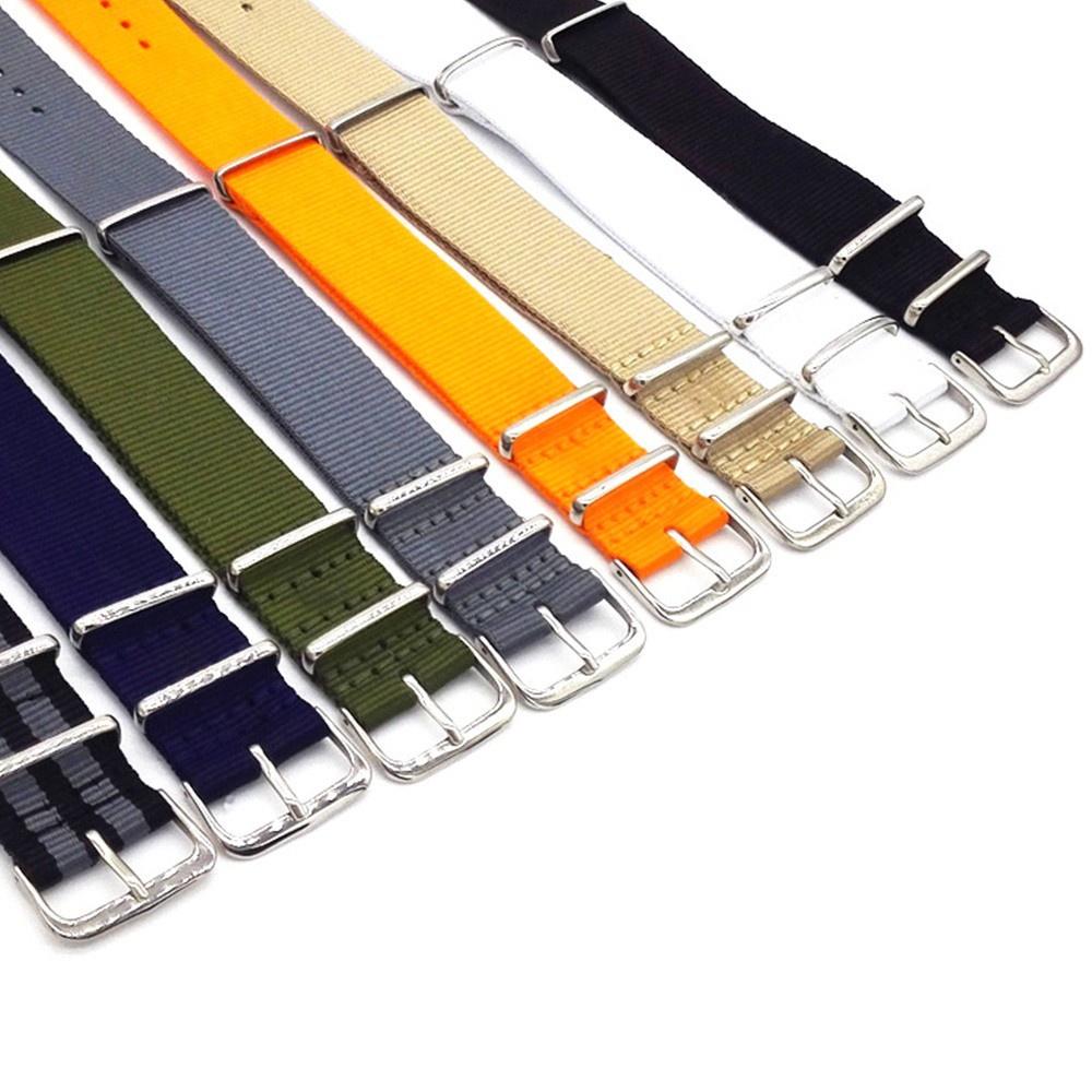 Dây Đeo Đồng Hồ Thể Thao Bằng Nylon Bện Nhiều Màu Tùy Chỉnh Thời Trang Cho Nam Và Nữ 18 20 22 mm